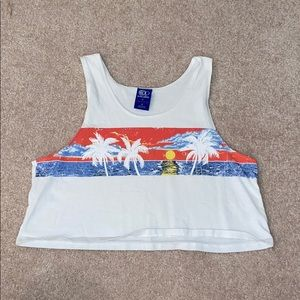 Ocean Pacific by icons of culture White tank top